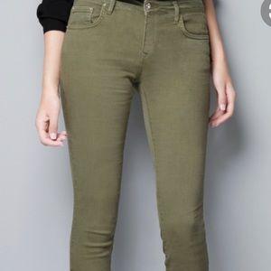 Zara Woman's Jeans, Khaki, Size 2